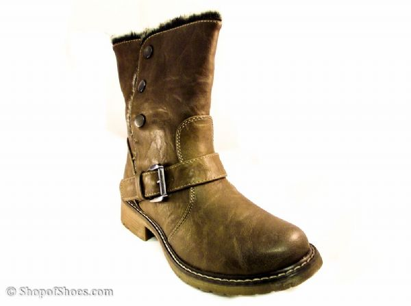 Cats Eys Brown warm lined winter calf boot.